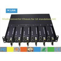 Wholesale 1U Rack Fiber Optic Media Converter Chassis For 12 Units Mini Media Convertes from china suppliers