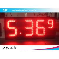 Wholesale Red Semi Outdoor Led Gas Price Display With High Brightness 5000cd/sqm from china suppliers