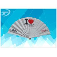 Wholesale Customized Plastic Folding Fan With Fabric ,  Size 23cm Hand Held Folding Fans from china suppliers