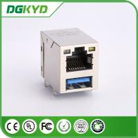 Wholesale Modular Jack RJ45 Stacked Over USB Rj45 Connector 3.0 X1F Cat6 W/ LED 1775855-3 from china suppliers