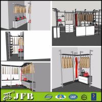 Wholesale aluminum  profile for inside pole system diy installation bedroom sets with shoes rack from china suppliers