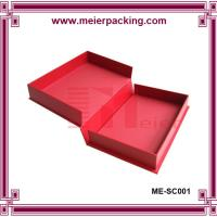 Wholesale Delicate design red color cardboard garment box, custom paper gift box ME-SC001 from china suppliers