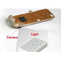 Quality Iphone 6 Golden Plastic Charger Case Poker Scanner With Micro Camera for sale