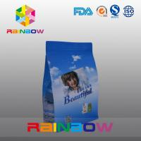 Wholesale Custom Printed Flat Bottom Plastic Bags , Quad Seal Block Bottom Bag With Clear Window from china suppliers