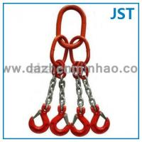 Wholesale G80 4 Legs Lifting Chain Slings with Oblong Link Grab Hook from china suppliers