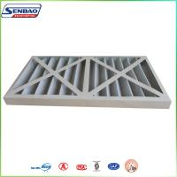 Quality Cardboard Frame Pleated Synthetic Fiber Primary Efficiency Air Filter For HVAC for sale