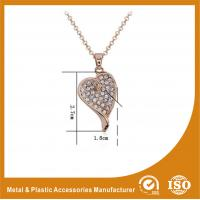 Wholesale Customized Zinc Alloy Gold Heart Metal Chain Necklace For Women Gift from china suppliers