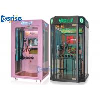 China Booth Coin Operated Karaoke Machine 2 Players Hardware Tempered Glass Material on sale