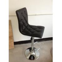 Wholesale square wood inside  PU bar stools with button in the back H-303E from china suppliers