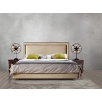 Wholesale 2017 new design of Leather / Fabric American style Bedroon furniture Upholstered headboard set bed/king size Bed from china suppliers