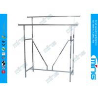 Wholesale OEM Double Bar Metal Clothing Display Racks with V-Brace in Chrome from china suppliers