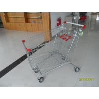 Quality Colorful Powder Coating 240L Supermarket Shopping Carts With Four Wheels for sale