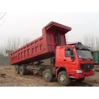 Wholesale HOWO 27 tons 12 wheels 8x4 dump truck green color cabin with 18cbm cargo body from china suppliers