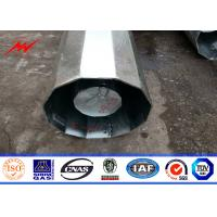 Wholesale Round Shaped Galvanized Steel Pole 16 Sides With Galvanized Climbing Bolt from china suppliers