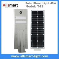 Wholesale 40W All in One Solar Street Lights Integrated Solar LED Street Light Motion Sensor Solar Lights Outdoor Driveway Lights from china suppliers