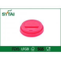 Wholesale 8 Oz Red Plastic Paper Cup Lids for Coffee or Tea Paper Cups from china suppliers