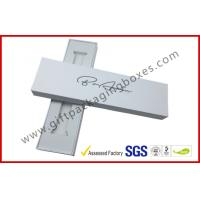 Wholesale Matt White watch band box , Pre-assembled jewelry package with white velvet tray from china suppliers