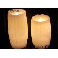 Quality 2 Size Led Table Candles Fashionable , Electric Votive Candles Ivory Color for sale