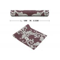 Wholesale Damask Pattern Victorian Style Wallpaper , Vinyl Coated Large Damask Print Wallpaper from china suppliers