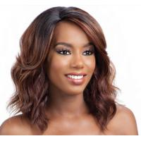 Wholesale Deep Wave Spiky Hair Wig , Kanekalon Fiber Full Head Wigs Human Hair from china suppliers