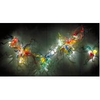 Quality Beautiful Multi-color Glass Wall Art Decor for sale