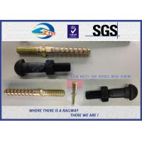 China Fastening Part HS26 / HS32 Railway Bolt Double - Head Screws With Golden Colors on sale