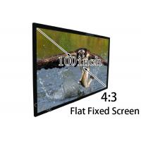 Wholesale DIY Aluminum Frame Flat Projection Screen / Matte White Screen For 3D Cinema from china suppliers