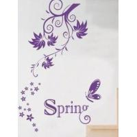 Wholesale Decorative Designer Personalised Wall Flower Stickers G035 from china suppliers