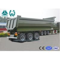 Quality U Shape Aluminium Dump Truck Trailer 40 Ton 25 CBM Heavy Duty High Intensity for sale