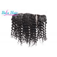 Wholesale Natural Black Malaysian Deep Curl Human Hair Closure For Black Women from china suppliers