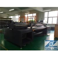 Quality 4 - 8 Color Flatbed Fabric Inkjet Printer Print On Cotton Poly Silk 1800mm for sale