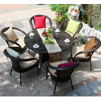 Wholesale Manufacturer Supply Rattan Round Garden Set Backyard Dining Coffee Chair with Round Table Outdoor Furniture from china suppliers