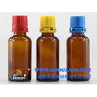 Wholesale amber reagent glass bottle 30ml ,narrow mouth for liquids from china suppliers