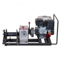 Wholesale 10KN 1Ton Cable Pulling Machine With Honda Gasoline Engine Winch Hoist from china suppliers
