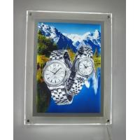 Wholesale Clear Acrylic LED Illuminated Light Box Wall Mounted For Advertising Display from china suppliers