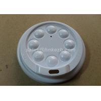 Wholesale White Plastic Paper Cup Lid With Button For Coffee Cups / Cold Cups from china suppliers