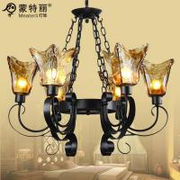 Wholesale Contemporary Wrought Iron Ceiling Lights 8 Light , Decorative Wrought Iron Chandelier from china suppliers