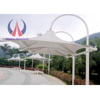 Outdoor Patio Cantilever Umbrella , Foundation Fixed Side Patio Umbrella‎ For Pavilion