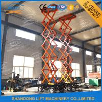 Wholesale 500kgs 10m mobile scissor lift 4 wheels mobile aerial work lift platform with CE from china suppliers