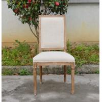 Wholesale Classical Design US Style Vintage french square back fabric side dining room chair from china suppliers