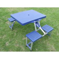 Wholesale Durable Blue ABS Plastic Folding Camping Table And Chairs For Picnic from china suppliers