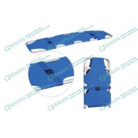 Wholesale Safety two folded aluminum alloy Ambulance stretcher with belts / first aid stretchers from china suppliers