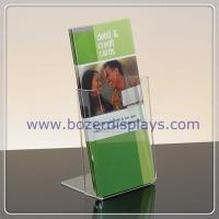 Wholesale Single Pocket Clear Acrylic Portable Brochure Holders from china suppliers