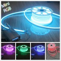 Wholesale mini size RGB led neon flex 10*18mm full color changing neon light 110V  SMD5050 from china suppliers