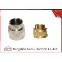 Wholesale Brass Male / Female Flexible Conduit Adaptor with Nickle Plated 20mm 25mm from china suppliers