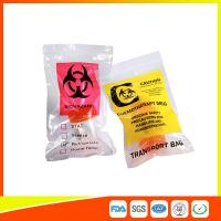 Wholesale Zip Lock Plastic Biohazard Specimen Bags / Vaccine Transport Bags Waterproof from china suppliers