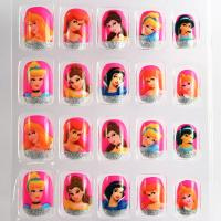Wholesale Barbie Doll French Manicure Fake Nails Art Tips For Childrens from china suppliers