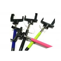 Wholesale Wire Hhandheld IOS Selfie Stick With Cable , Black telescoping selfie stick from china suppliers