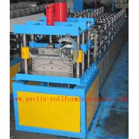 Wholesale Corrugated Color Steel Roof Ridge Cap Roll Forming Machine , Trapezoidal Profile Roll Former from china suppliers