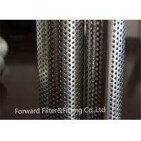 Quality Stainless steel perforated exhaust tube / perforated cylinder / perforated filter for sale